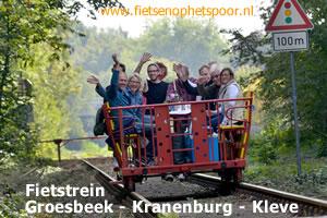 Fietsen op het spoor in Groesbeek