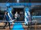 Gloednieuwe Albert Heijn Meijhorst geopend. v.l.n.r. Nicole Waas, Tom Stuart, Michel Hondijk. Foto - Albert Heijn, Yasmin Hargreaves