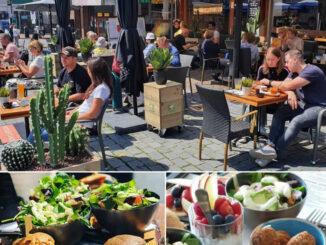 Lunchen op de markt in Nijmegen